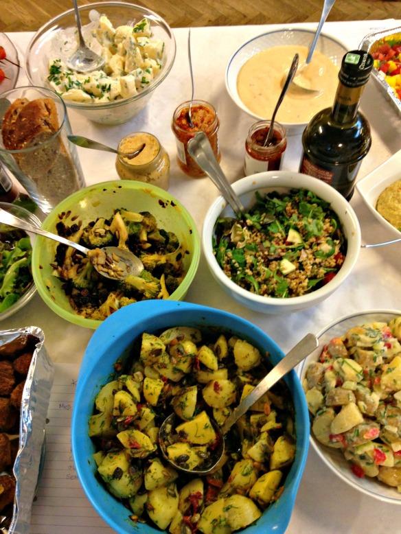 Kartoffelsalat og diverse
